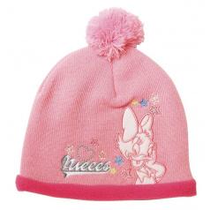 """Zimní čepice růžová s bambulí """"Daisy"""""""