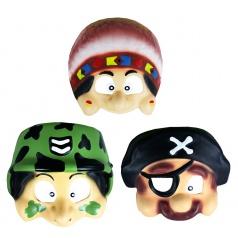 Karnevalová maska plastová dětská pohád. bytosti, 3 dr