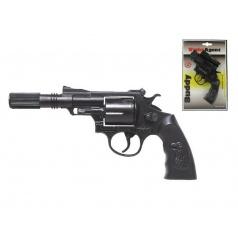 Pistole - Kapslovka Buddy s tlumičem 23cm 12 ran na kartě