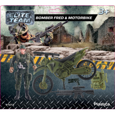 Plastica figurky vojáků Bomber Fred  Motorbike