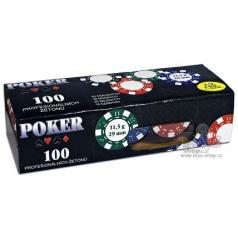 ALBI poker žetony - 100 žetonů