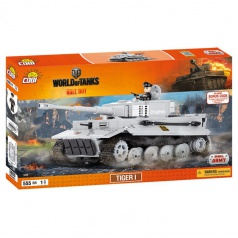COBI 3000 World Of Tanks stavebnice tanku Tiger I 555 kostek , 1 f