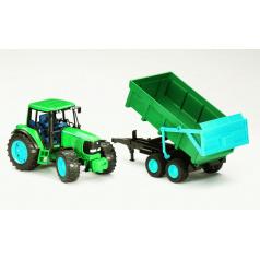 BRUDER 2058 John Deere 6920 traktor s vyklápěcím přívěsem