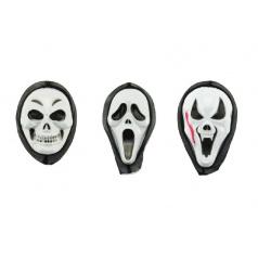 Maska obličejová na karneval Duch Vřískot plast 20cm asst 3 druhy