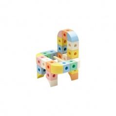 GIGO Stavebnice Connect a Cube - Pastelové barvy