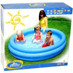 INTEX 58446 Bazén tříkomorový modrý 168x40cm