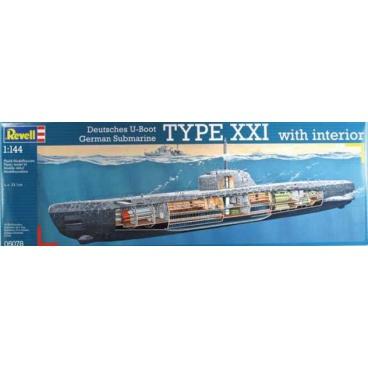 Revell plastic modelkit ponorka 05078 deutsches u boot for Interieur u boot