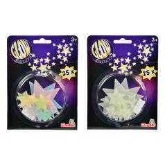 Svítící hvězdičky, 25 ks, 2 druhy