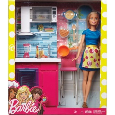 Mattel Barbie PANENKA A NÁBYTEK ASST DVX51
