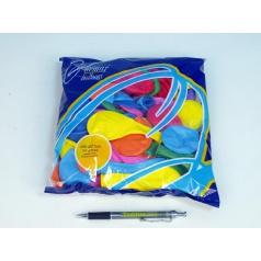 """Balonek nafukovací 8"""" pastelové, 100ks v sáčku karneval"""