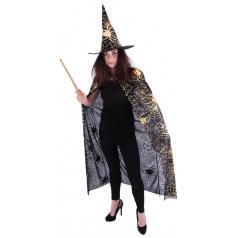 Karnevalový kostým plášť + klobouk čarodějnický, dospělý