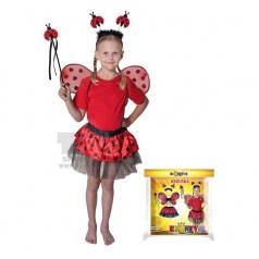 Dětský karnevalový kostým beruška velikost 104 -150 cm