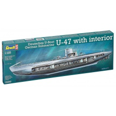Revell Plastic ModelKit ponorka 05060 - German Submarine U-47 w.Interior (1:125)