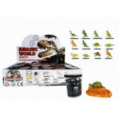 Sliz - hmota Dinosaurus 6cm asst 24ks v boxu