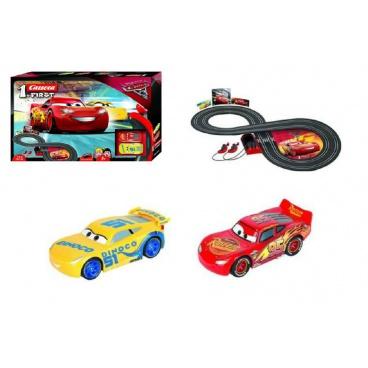 Carrera Autodráha First Auta 3/Cars plast 2,4m na baterie v krabici 50x30x7cm