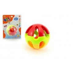 Chrastítko koule plast 8cm na kartě 3m+
