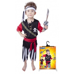 Dětský karnevalový kostým Pirát s šátkem velikost L