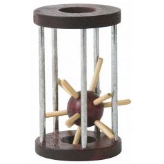 WOODY Hlavolam ježek v kleci