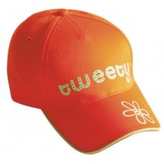 """* Letní kšiltovka """"Tweety"""" oranžová"""