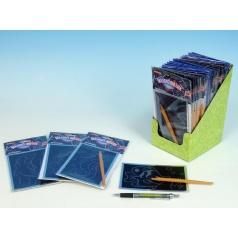 Škrabací obrázek hologram 15x10cm 24ks v boxu