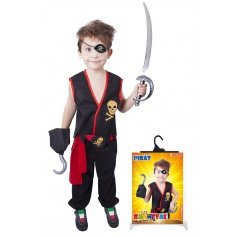 Dětský karnevalový kostým Pirát s vestou velikost S