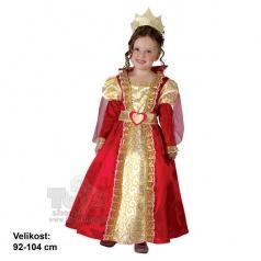 Dětský kostým šaty na karneval - Královna 92-104cm