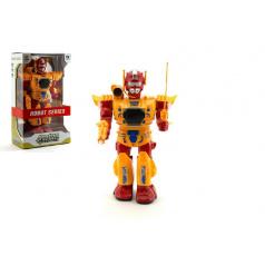 Robot plast 32cm na baterie se světlem se zvukem v krabici