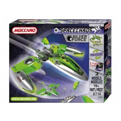 Meccano 805101 Space Chaos Silver Force Fighter kovová stavebnice