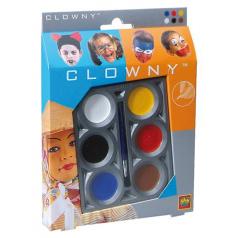 Clowny aqua 6 barev na obličej