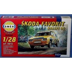 Směr modely plastové Škoda Favorit Rallye 1996 1:28