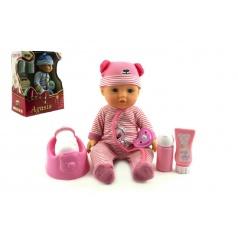 Panenka miminko Agusia plast 27cm pijící čůrající s doplňky asst 2 barvy
