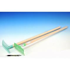 Hrábě kov/dřevo 80cm asst 2 barvy nářadí