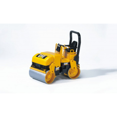 BRUDER 2433 Konstrukční vozy - CAT válcovací stroj při pokládání asfaltu 1:16