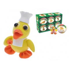 Paulinda  vořivá hmota/modelína Paulinda Happy Duck 40g asst 12druhů v kelímku