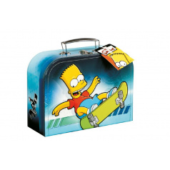 Šitý kufr/kufřík Bart Simpson 25x19cm