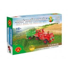 Alexander Farmar traktor s přívěsem-malý konstruktér kovová stavebnice