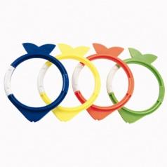 Rybičky k potápění - mix 4 barev (modrá, žlutá, oranžová, zelená)