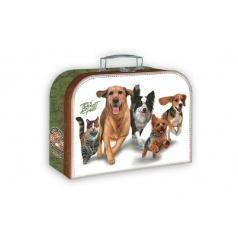 Školní kufr běžící zvířata 35x23cm