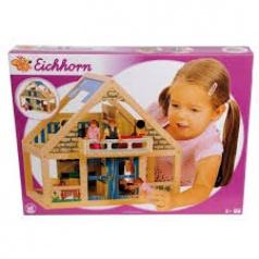 Eichhorn Dřevěný domeček s nábytkem, 38x22x35,5cm