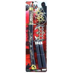 Dětský meč japonský katana s přísluš.,sada 5 ks