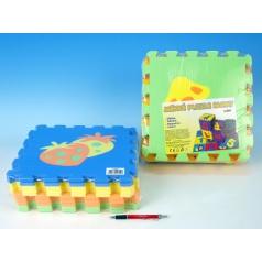 Pěnové puzzle Ovoce 30x30cm asst 2 druhy 10ks v sáčku