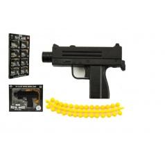 Teddies Pistole kov/plast 10cm na měkké kuličky asst mix druhů
