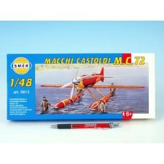 Směr model letadla Macchi Castoldi M.C.72 1:48 17,5x19cm v krabici 31x13,5x3,5cm