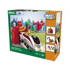Brio 33873 Vláčkodráha SMART TECH s chytrým vlakem a aktivními tunely