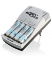 Ansmann PhotoCam III nabíječka + 4x tužkové nabíjecí baterie AA NiMH Photo 2400mAh, 1,2V