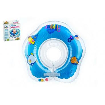 Teddies Plavací nákrčník Flipper modrý v krabici od 0 měsíců