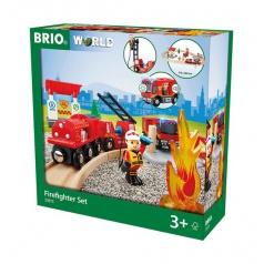 Brio 33815 Záchranářská vláčkodráha hasiči