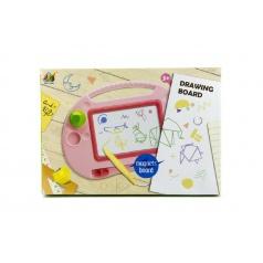 Teddies Magnetická tabuľka kresliace plast asst 2 farby v krabici 40x28x4cm