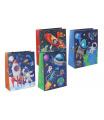 Wiky Dárková taška dětská vesmír mix barev 18x23x8cm