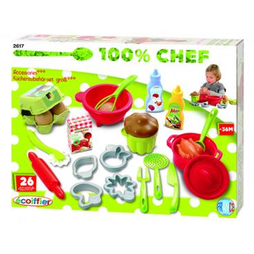 Ecoiffier Role play Ecoiffier Velká sada kuchyňského příslušenství